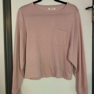 Madewell dusty pink long sleeve